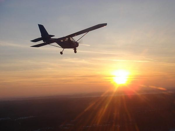 полет на самолете а-22 вечером